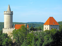 Medieval castle Kokorin. In Czech republic, Central Europe, EU royalty free stock photography