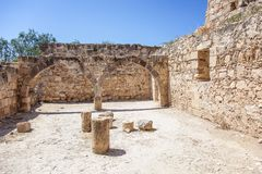 The medieval castle of Kolossi. Stock Image
