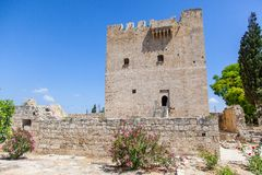 The medieval castle of Kolossi. Royalty Free Stock Photography