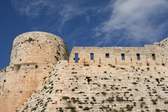 Medieval castle of krak des chevalliers. The medieval crusader castle of krak des chevalliers in syria royalty free stock photography