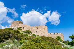 Medieval castle of Kritinia Kastellos, Rhodes island, Greece Royalty Free Stock Photography