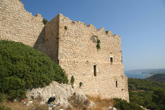 Medieval Castle of Kritinia in Rhodes Greece, Royalty Free Stock Photos