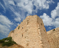 Medieval Castle of Kritinia in Rhodes Greece, Dodecanese Stock Photography