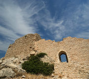 Medieval Castle of Kritinia in Rhodes Greece, Dodecanese Stock Photo
