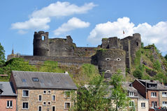 Medieval castle La Roche en Ardennes. The medieval castle ruin of La Roche en Ardenne, Belgium Stock Photography