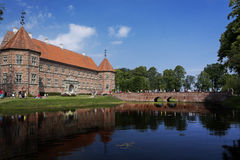 Medieval castle with lake Stock Image