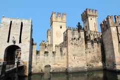 Medieval castle of lake Garda Stock Photography