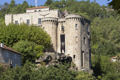 The medieval castle in Largentiere, France Royalty Free Stock Photo