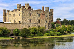 Medieval castle of Leeds, in Kent, England, United Kingdom. (UK royalty free stock photo