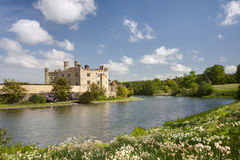 Medieval castle of Leeds, in kent, UK royalty free stock image