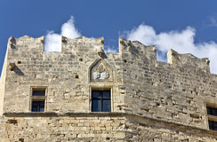 Medieval castle at Lindos, Rhodes island Royalty Free Stock Photo