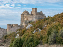 Medieval castle of Loarre in Aragon, Spain Stock Image