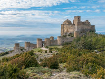 Medieval castle of Loarre in Aragon, Spain Royalty Free Stock Photos