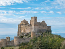 Medieval castle of Loarre in Aragon, Spain Royalty Free Stock Image