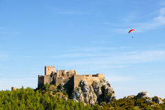 Medieval Castle of Loarre in Huesca Stock Photography