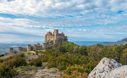 Medieval castle of Loarre in Huesca, Spain Royalty Free Stock Image