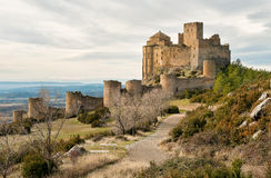 Medieval castle of Loarre, Spain Royalty Free Stock Photo