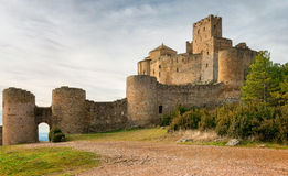 Medieval castle of Loarre, Spain Stock Photos