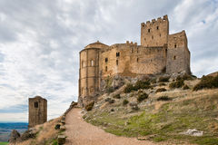 Medieval castle of Loarre, Spain royalty free stock image