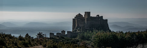 Medieval castle of Loarre in wildness, Aragon Royalty Free Stock Image