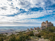 Medieval castle of Loarre in wildness of Aragon, Spain Stock Images