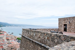 Medieval castle located in pizzo calabro,italy Stock Image