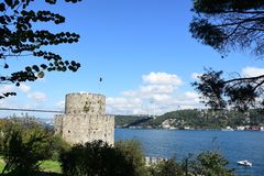 Rumeli Hisar castle, Istanbul, Turkey stock photo