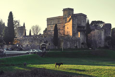 Medieval Castle of Lourmarin. France Royalty Free Stock Photos