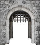 Medieval castle main enter or gate Stock Photo