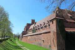 Medieval castle in Malbork / Marienburg. Poland Royalty Free Stock Photos