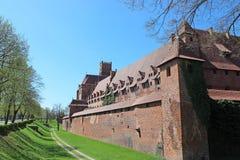Medieval castle in Malbork / Marienburg. Poland Royalty Free Stock Photos