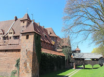 Medieval castle in Malbork / Marienburg. Poland Royalty Free Stock Images