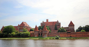 Medieval castle in Malbork / Marienburg. Poland Royalty Free Stock Image