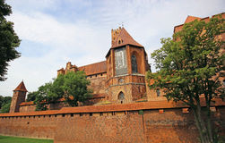 Medieval castle in Malbork / Marienburg. Poland Royalty Free Stock Photo