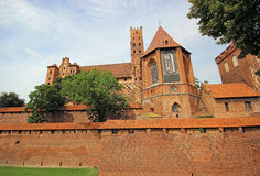 Medieval castle in Malbork / Marienburg. Poland Royalty Free Stock Image