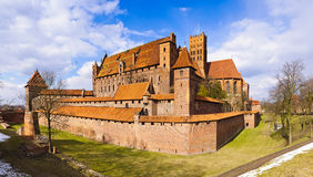 Medieval castle in malbork, poland Royalty Free Stock Photo