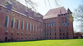Medieval castle in Malbork. Medieval castle of Teutonic Knights in Malbork, Poland Royalty Free Stock Photo