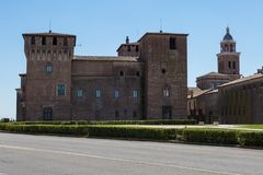 Medieval Castle of Mantova, Unesco World Heritage - Lombardy, Italy.  royalty free stock image