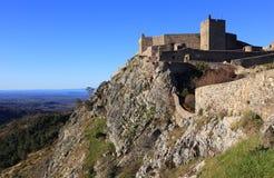 The medieval castle in Marvao, Portalegre, Alentejo, Portugal. Royalty Free Stock Images