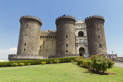 The medieval castle of Maschio Angioino or Castel Nuovo in Naple Stock Image
