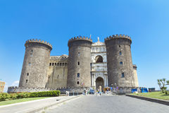 The medieval castle of Maschio Angioino or Castel Nuovo in Naple Stock Images