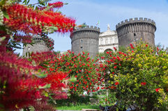 Medieval castle of Maschio Angioino or Castel Nuovo in Naples, I Stock Images