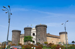 Medieval castle of Maschio Angioino or Castel Nuovo in Naples, I Royalty Free Stock Photos