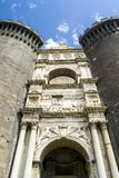 Castle of Maschio Angioino, Naples Italy royalty free stock photography