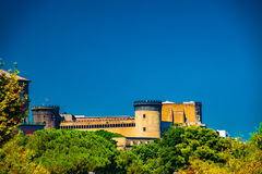 The medieval castle of Maschio Angioino Stock Images