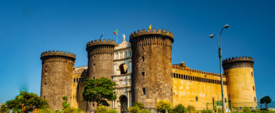 The medieval castle of Maschio Angioino Stock Image