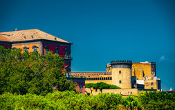 The medieval castle of Maschio Angioino Royalty Free Stock Photos