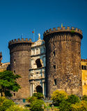 The medieval castle of Maschio Angioino Stock Photography