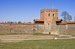 Medieval castle, Medininkai, Lithuania Stock Photo