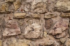 Medieval castle messy stone wall stock image